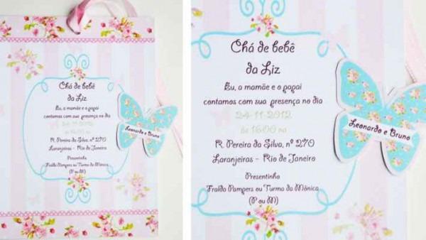Convite De Chá De Bebê  70 Modelos