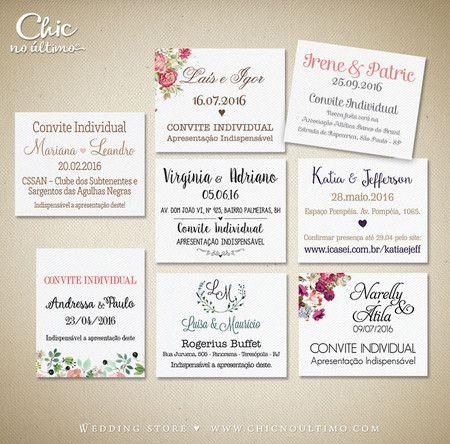 Convites Individuais Para Casamento