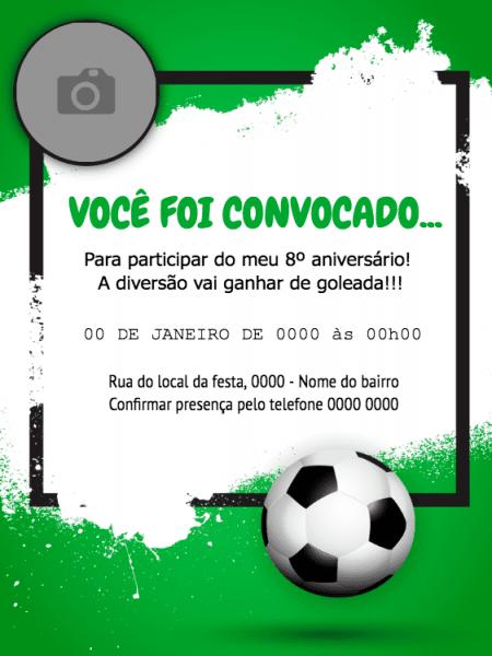 Convite Online Futebol Editar Grátis
