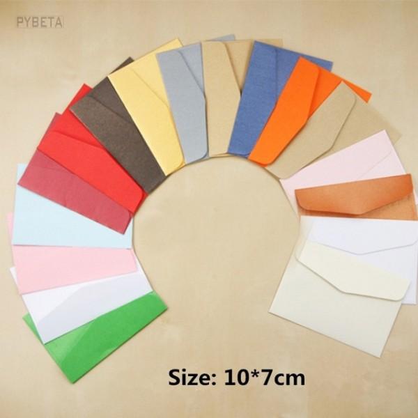 100 Pcs 10 7 Cm 120gsm Pequeno Colorido Pérola Papel Envelope