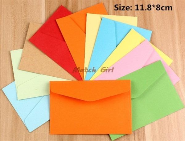100 Pcs Lot 11 8   8 Cm Em Branco Colorido Mini Cartão Vip Negócio