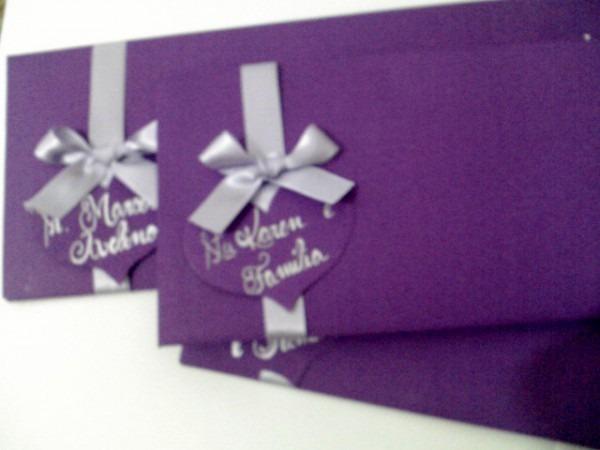 Coisas De Míriam  Convite De Casamento Roxo E Lilás