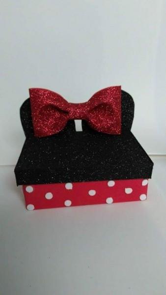 10 Convite Caixa Minnie Vermelha Ou Rosa Em Eva