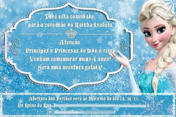 10 Convite Elsa Anna Frozen Olaf 10x15  Frete Gratis  Ju Uva