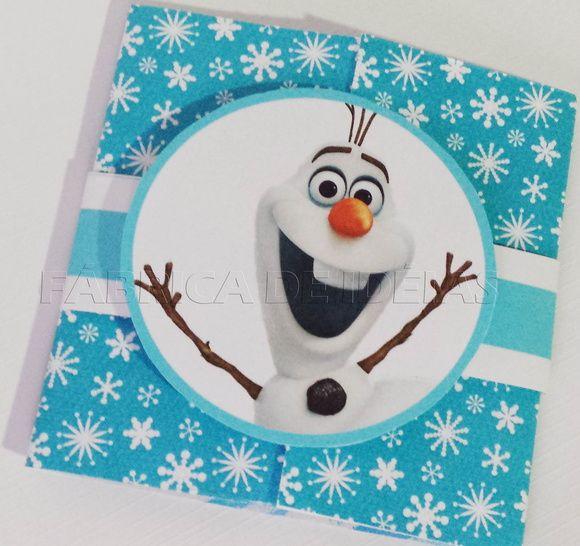 Convite Personalizado Frozen Com Faixa De Papel E Aplicação Do