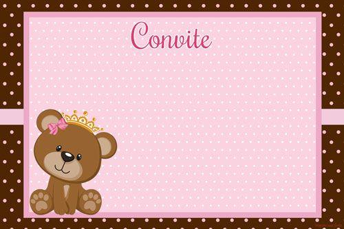 Ursinha Princesa Rosa E Marrom