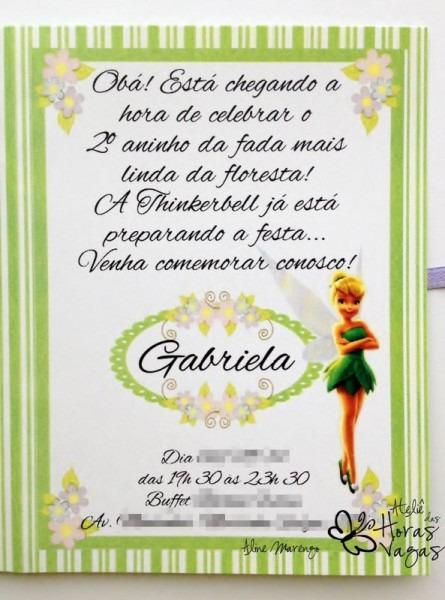 Convite Aniversário Artesanal Com Tag
