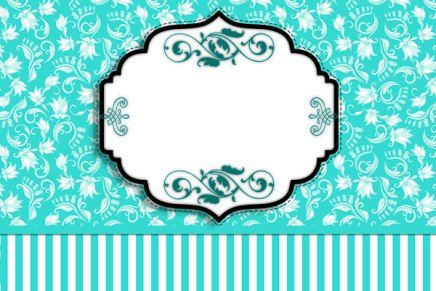 Kit Completo Azul Tiffany Floral E Listras!