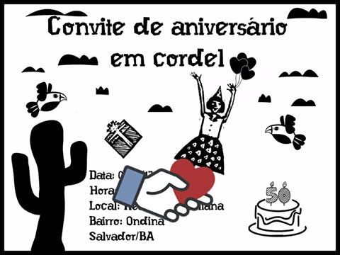 Cordel Personalizado  Convite De Aniversário Virtual Em Cordel