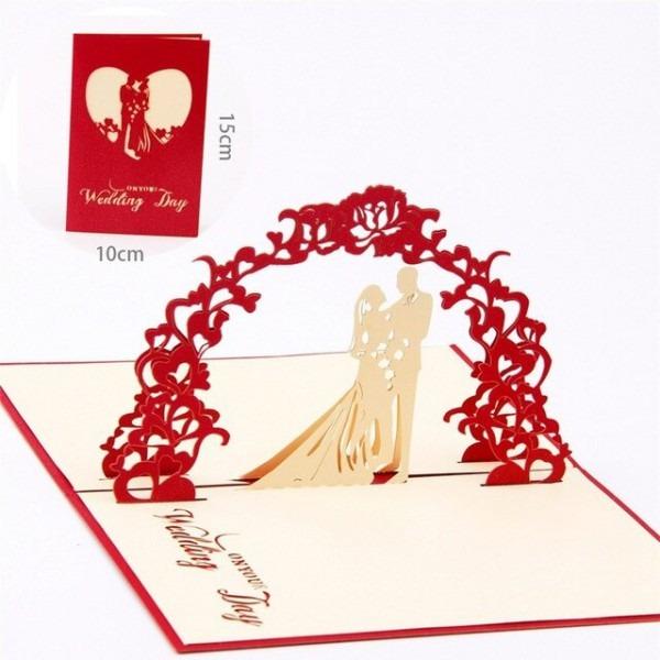1 Pc 3d Amor Cartão De Casamento Convites De Casamento Cartão De