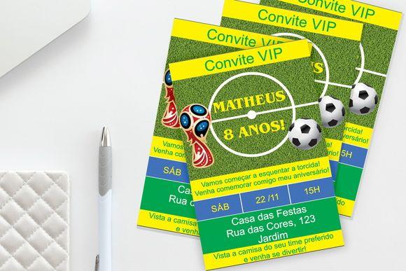 Convite Digital Futebol E Copa Do Mundo Texto Livre