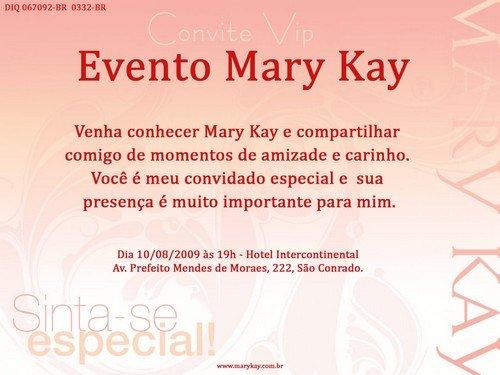 Convites Mary Kay    Avaré