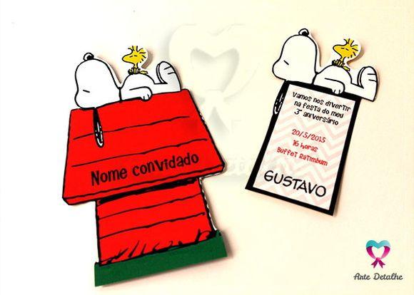 Convite Festa Snoopy