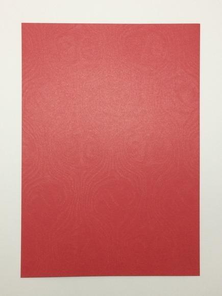 25 Folhas Papel Metalizado Convite Vermelho Relevo A4 180g