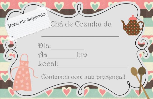 Convites Chá De Cozinha (para Imprimir) Em 2019