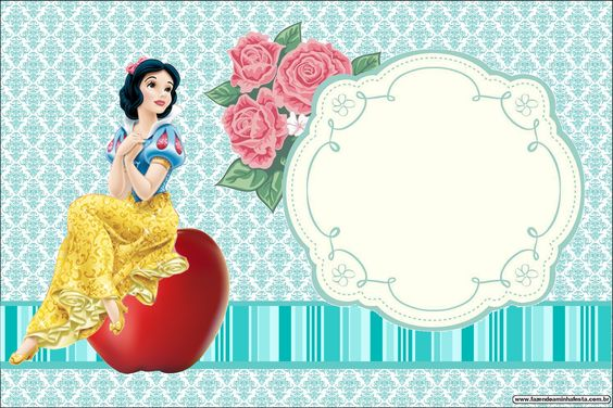 Convite Da Branca De Neve
