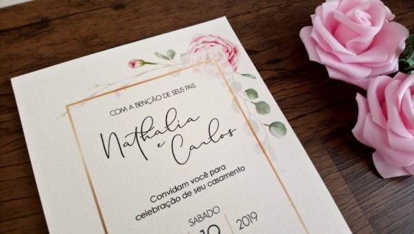 30 Convites De Casamento Floral Rusticos   Convite 15 Anos