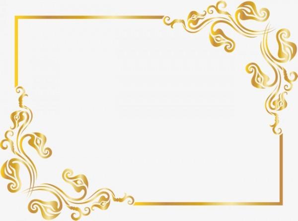 O Padrão De Ouro Uma Moldura De Ouro Excelente Quadrado Png Imagem
