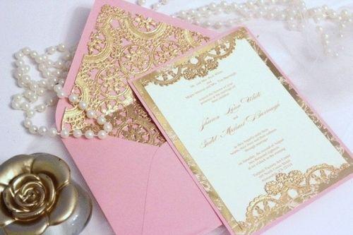 Casaar   Casamento Rosa E Dourado