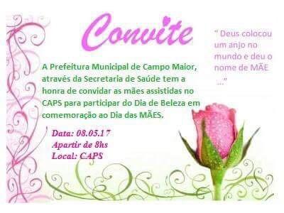 Caps De Campo Maior Promove Dia De Beleza Para As Mães