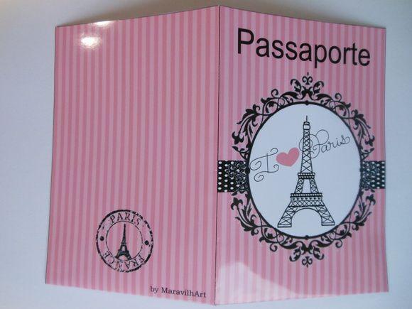 Convite Passaporte Paris, Medida Da Capa 10 X 15 Cm Fechada