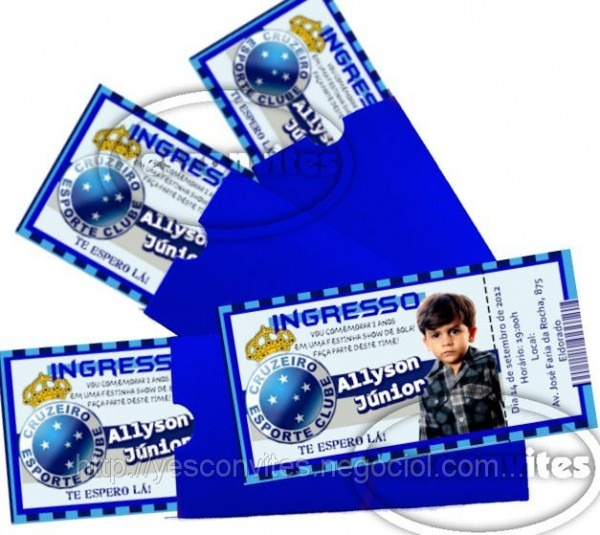 Convite De Aniversário Tipo Ingresso (id 26426), Preço R$1