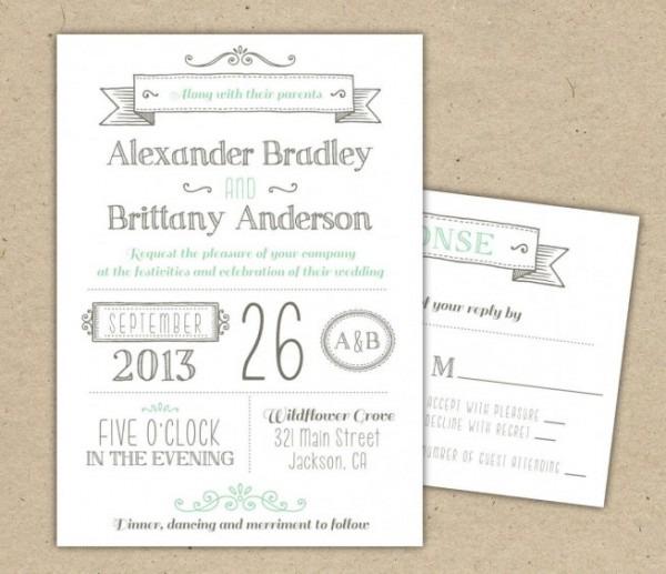 40 Modelos De Convites De Casamento Diferentes