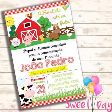 Convite Virtual Fazendinha