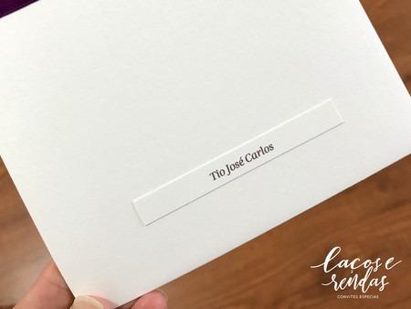 Tag Retangular Nome Dos Convidados Para Convite