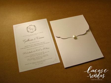 Convite De Casamento PÉrola 14x20