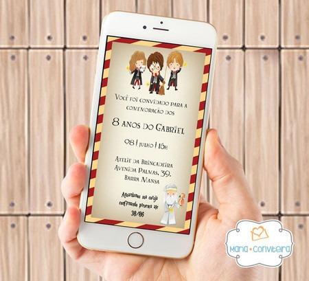 Convite Digital Harry Potter