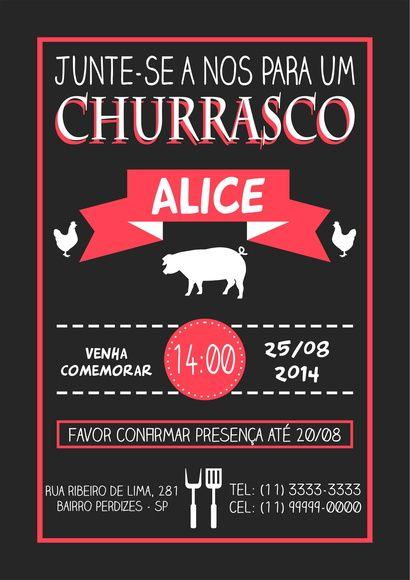 Arte Convite Churrasco 001