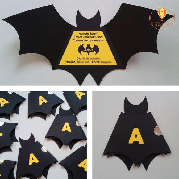 Convite Batman Mais
