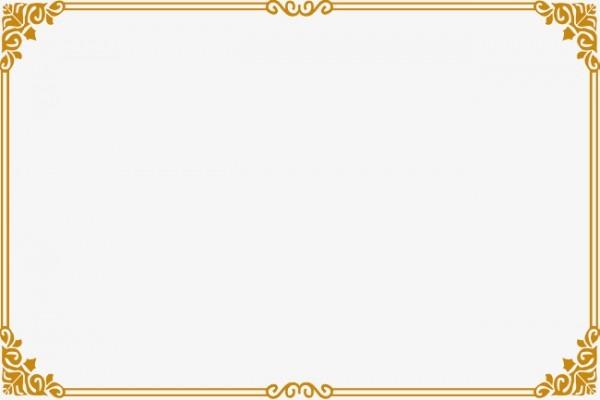 Largura De Luxo Dourada Moldura Simples A Estética Png Imagem Para
