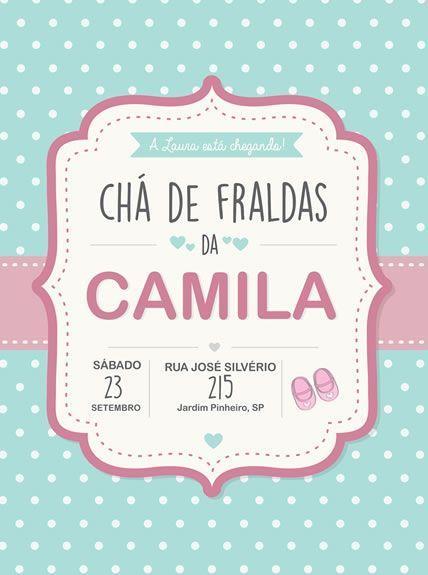 Convite Para Chá De Bebê Virtual – Convite Chá De Fraldas Online