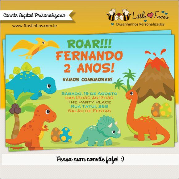 Convite Festa Dinossauro Para Imprimir