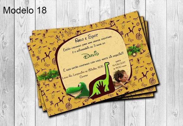 50 Convites O Bom Dinossauro Personalizados 10x15cm