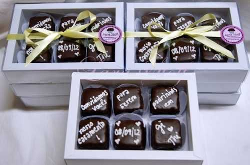 Chocolate Convite Madrinha