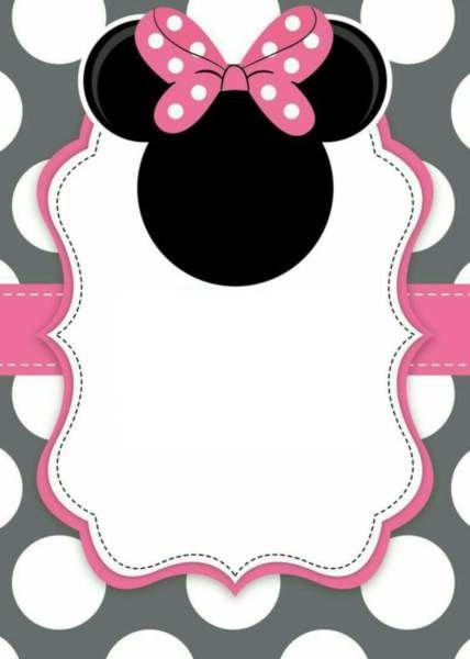 24 Convites Da Minnie Rosa Com Estampas Delicadas – Modelos De