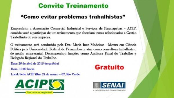 Sol Do Carajás  Convite Treinamento