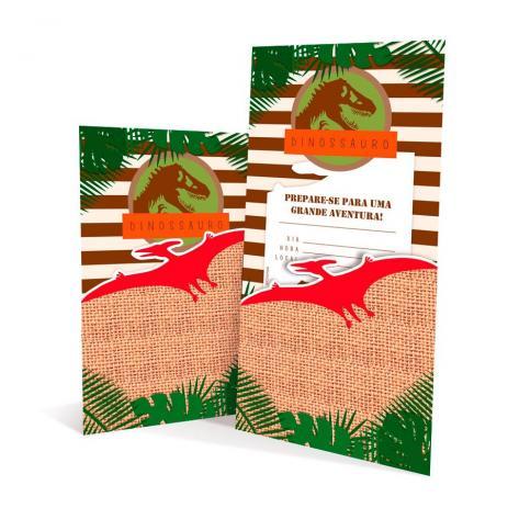 Convite De Aniversário Especial Mundo Dos Dinossauros 08 Unidades