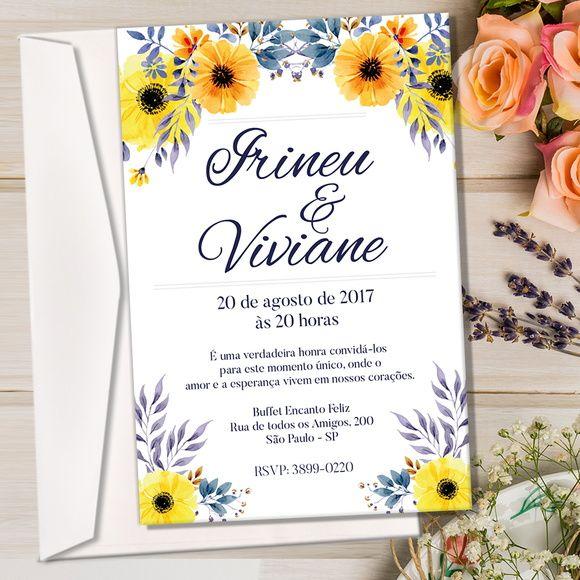 Convite + Envelope Casamento