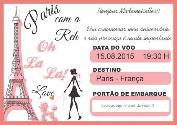 Modelo Convite Paris