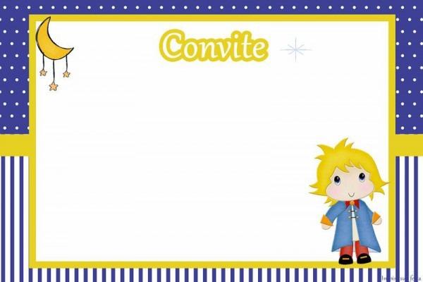 Convite Pequeno Principe Para Editar
