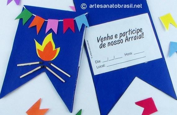 Convite De Festa Junina Passo A Passo (moldes Baixar!)