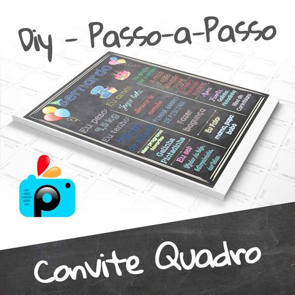 Como Fazer Convite Quadro (chalkboard)