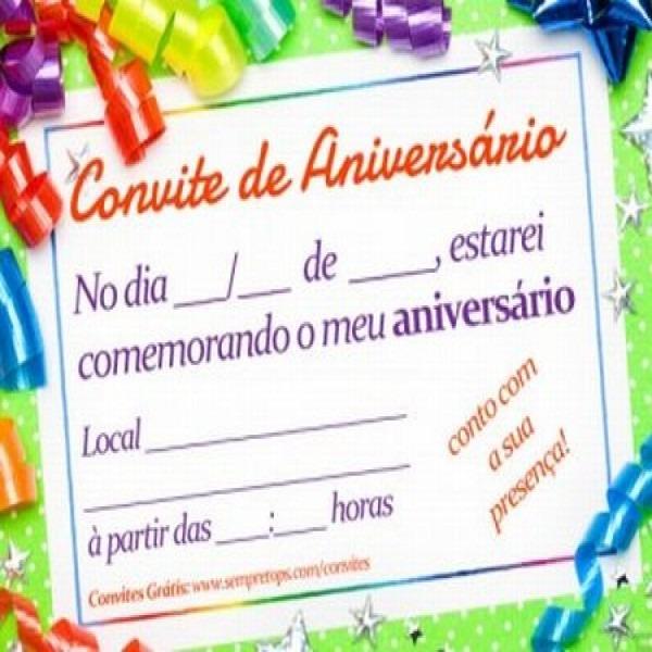 Convite De Aniversario De Gratis