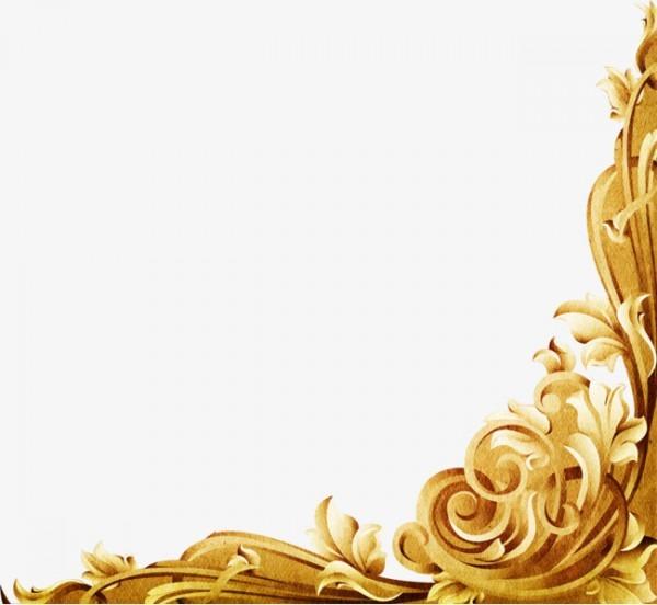 Uma Escultura De Ouro Dourado Esculpido Moldura Png Imagem Para