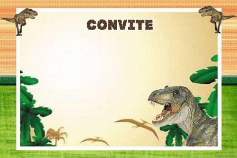 Convite Dinossauro Para Editar E Imprimir Meu