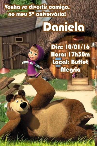 Convite Digital Personalizado Masha E O Urso
